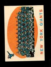 1959 TOPPS #133 GIANTS TEAM VG+ NY GIANTS *SBA1494