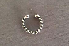 Bali ear cuff genuine .925 sterling silver no piercing ear clip