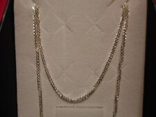 """Foxtail Chain in 925 Sterling Silver-24"""", 3.7 grams, 1mm"""