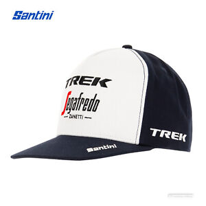 New 2021 Santini TREK SEGAFREDO Pro Team Flat Brim Podium Cap