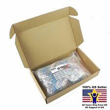 50value 1000pcs 2W Metal Film Resistor +/-1% Assortment Kit US Seller KITB0140