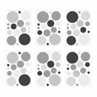 136 Wandtattoo Punkte-Set schwarz - 96 Stück - Sticker für Kinderzimmer Baby Möb