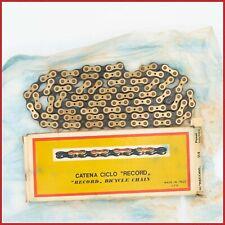 NOS REGINA RECORD EXTRA VINTAGE CHAIN CAMPAGNOLO SUPER 50th 6 7 SPEED ORO GOLD