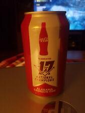 ALABAMA 2017 national champion Coke can