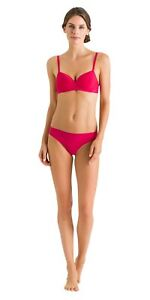 HANRO - Smooth Illusion Spacer Soft Cup Basic Bra Bloom Red 71292 - 34B NWT