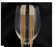 Classics Crystal Tassel Goldplated Chain Earring