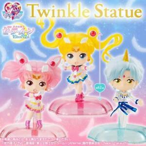 Sailor Moon Étincelante Statue Capsule Figurine Ensemble De 3