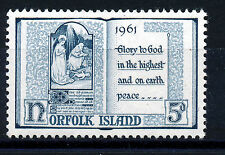 NORFOLK ISLAND 1961 CHRISTMAS SG42 IMPRINT BLOCK OF 4 MNH