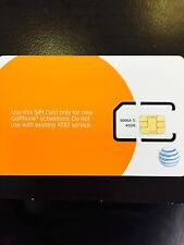 AT&T GO PHONE SIM CARD  - NEW - PREPAID - GENUINE AT&T SKU#6006A STANDARD SIZE