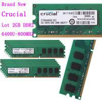Crucial 20GB/8GB/4GB/2GB DDR2 800Mhz 2Rx8 PC2-6400 Memory DIMM RAM Desktop Lot