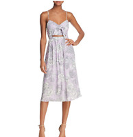 Bardot Ibiza Cutout Floral Midi Dress, Lavender, Women's Small (6)