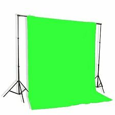 Background Stand Backdrop Support System Kit With 6ft x 9ft Chromakey Green S...