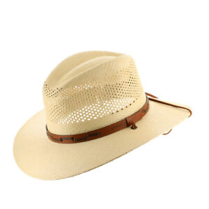 Stetson Outback Vented Mens Straw Panama Hat