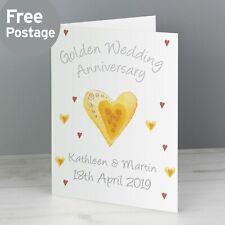 -:- Golden Wedding -:- PERSONALISED CARD -:- Anniversary