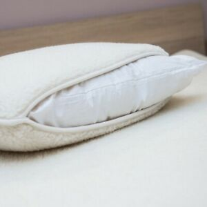 Merino Wool filled Pillow wool cover standard size natural