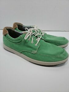 Mens Size 10 Clark's Norwin Vibe Grass Green Casual Loafers Sneakers