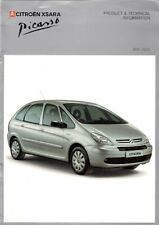 Citroen Xsara Picasso Specification 2005-06 UK Brochure LX Desire Exclusive