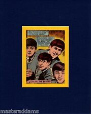 BEATLES PROFESSIONALLY MATTED PRINT