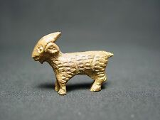 Vtg Brass Miniature Goat Mini Metal Figurine Farm Animal Doll Devil Beast Symbol