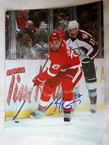 Detroit Red Wings Kyle Quincey Signed 11x14 Photo Auto