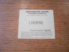 17/09/1994 Ticket: Manchester United v Liverpool [Adult Season Ticket Voucher Sp