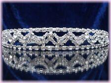 Bijou de tête diadème accessoire mariage cristal clair mariée miss