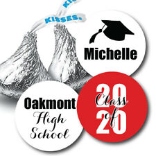 High School Graduation Hershey Kiss Stickers - Name, Class of 2020, High School