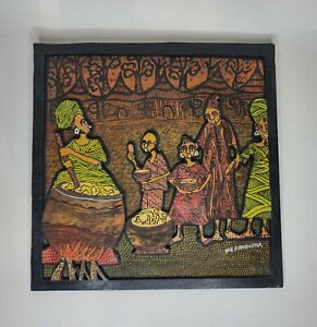 Ife Fidudusola Nigerian Artist 3D Painting On Wood (1967- ) Albuquerque