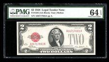 DBR 1928 $2 Legal Fr. 1501 PMG 64 EPQ Serial A06717883A