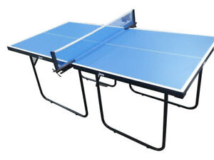 Don Indoor Outdoor Table Tennis Ping Pong Table Blue Junior Size 6ft x 3ft
