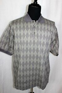 Cypress Links Smoked Pearl Diamond Pattern Large Polo Golf Shirt L NWT
