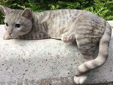 Laying Tabby Cat Vivid Arts Garden Ornament Indoor/Outdoor £29.99