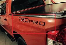 Piano Black TRD Pro Letters Inserts for Toyota Tundra 2014 2015 2016 2017 2018