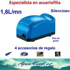 kit oxigenador aireador bomba de aire compresor acuario pecera gambario 1,6L/mn.