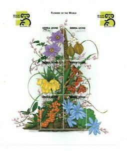 VINTAGE CLASSICS - Sierra Leone Flowers - Sheet Of 6 - MNH