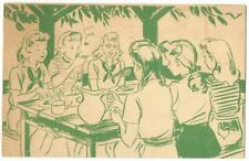 Girl Scout Camp Postcard 1941