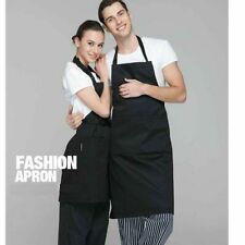 Black Apron Cooking BBQ Craft Baking Chefs Pure Cotton Catering Butcher Kitchen