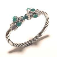 Green Onyx Bangel Gemstone Handmade Silver Overlay Jewellery