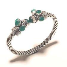 Green Onyx Bangel Gemstone Handmade Silver Plated Jewellery