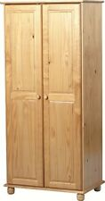 SOL SOLID ANTIQUE PINE 2 DOOR WARDROBE