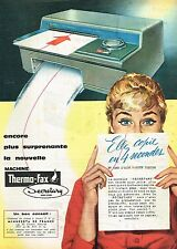 A- Publicité Advertising 1959 La Machine Thero-Fax Secretary