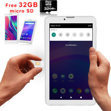 """Android 9.0 Pie 7"""" Tablet PC w/ SIM Card Slot+free 32GB microSD for 4G UNLOCKED"""