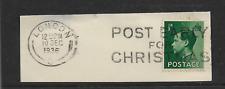 King Edward Viii Day Of Abdication Dec 10th 1936 Postmark On Piece Ref 1000B