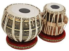 "TABLA DRUMS SET~2.5 KG""BRASS-BLACK'BAYAN~DAYAN~FREE!!! GIG BAG ~TUNING HAMMER"