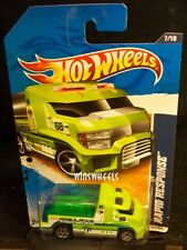 HOT WHEELS 2011 #177 -1 RAPID TRANSIT LIME AMER 11 CARD
