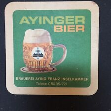 AYINGER BIER COASTER ~ IMPORTED BREWING COMPANY