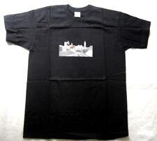 FRUIT OF THE LOOM Herren T-Shirt Schwarz mit Motiv Skyline Gr. M