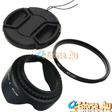 67mm Lens Hood + UV Filter + Lens Cap For Canon EOS 70D EF-S 18-135mm Lens