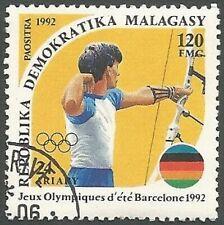 Madagascar Scott# 1074, Archery, 120fr, Unused CTO, FG, NH, 1992