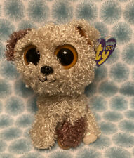 "2013 TY BEANIE BOO's ROOTBEER PUPPY DOG 6"" PLUSH ORANGE SOLID EYES PURPLE"